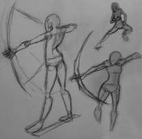 Archery Sketches - practice by Archery-colors