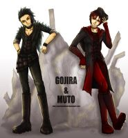 GOJIRA AND MUTO by GazerockShangri