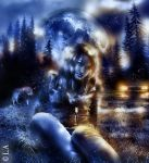 0NCE IN A BLUE MOON by L-A-Addams-Art