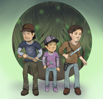 TWD2: Three Little Derps by Cuineth
