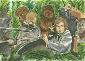 Surrounded by Ewoks by LauraInglis