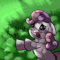Sweetie Belle Needs Hugs by imsokyo