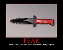 Fear Motivational Poster by QuantumInnovator