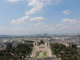Some of Paris from the Eiffel Tower by SiobhanK
