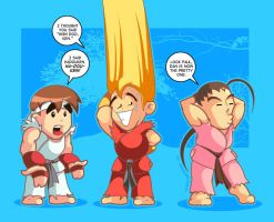 Puzzle Fighter II - Hadouken by pierski