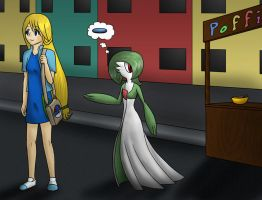 Topaz and Gardevoir .:Commission:. by Warlock0103