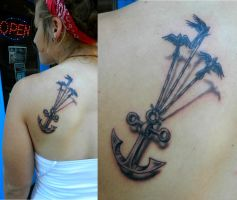 Birds Carrying an Anchor by Sirius-Tattoo