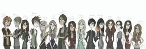 Vampire Academy_Characters by HelenFlame