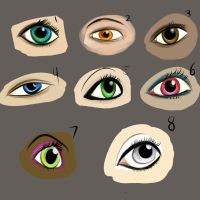 Random eyes by Joker366