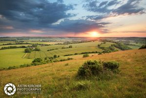 Butser Hill Sunset by Neutron2K