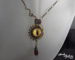 Dragon eye necklace by bodaszilvia