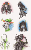 Homestuck: art dump 5 by Morisaurus