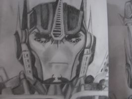 Optimus sketch by blondecomicartist