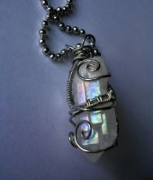 Angel's Light - Angel Aura Quartz - Pewter Silver by LadyPirotessa