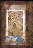 Journal Cover Nouveau Flower by tahara