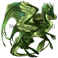 Flight Rising Skin- Emerald Skydancer Female by NegativeDiamond