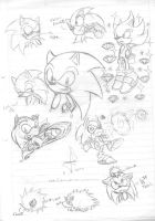 Sonic sketch by idolnya