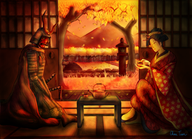 Tea With the Devil Colored by Some-Asian-Guy