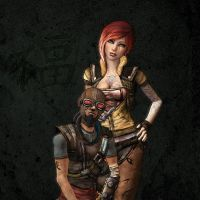 Lilith et Mordecai Borderlands by Hugo38