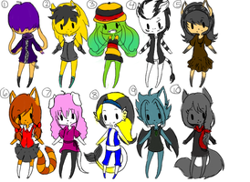 free adoptable batch 8 *CLOSED* by ookami8118