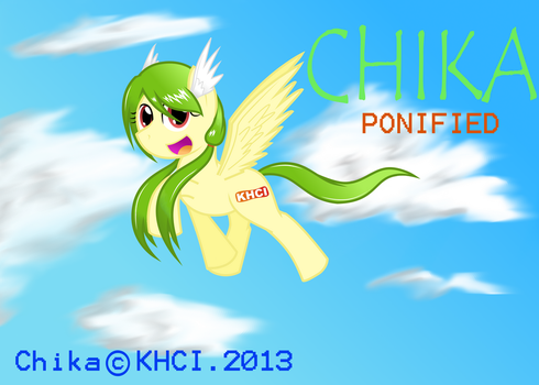 Chika Ponified (with shading) by DhilieDale