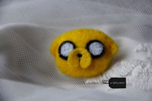 Needle felted jake the dog (for sale) by FluffyParcel