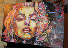 Marilyn Monroe - Live Painting by Flashback33