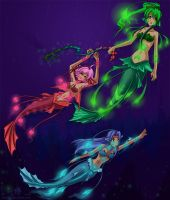 Deep Sea Mermaids by Autumnology