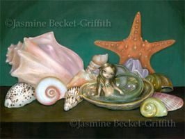 Still Life with a Mermaid by jasminetoad