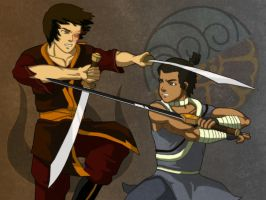 Zuko vs. Sokka by Jonas64