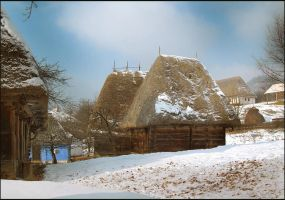 Winter in the Village II by Callu
