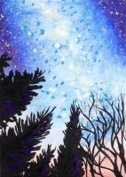 ACEO: Celestial Forest by DanielleMWilliams