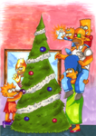 The Simpsons Christmas by Cocodoo