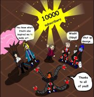 10000 subscribers on Youtube by fiori-party