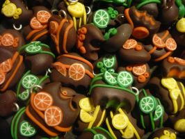 fruit choco charms by Tanietta