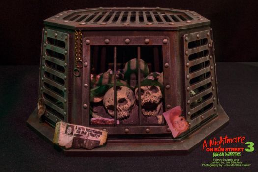 Freddy Krueger Display with cap front view by joeytheberzerker