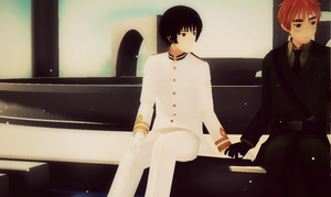 MMD - Arthur and Kiku -Requested- by Shichi-4134