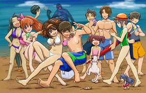 Haruhi Beach Episode by sykoeent