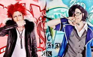 K - cosplay : Mikoto X Fushimi by Moon-Pie-Panda