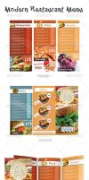 Modern Restaurant Menu by UnicoDesign