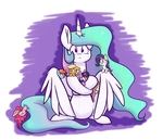 Celestia and the tiny ponies by Heir-of-Rick