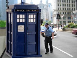 Tardis in NY gets a ticketed by Haruka16