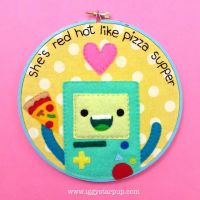 BMO Embroidery Hoop by iggystarpup