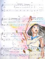 pocahontas: music manuscript by cattybonbon