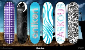 6 Skate Decks by An1ken
