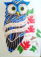 Owl and banner design by jessicore666