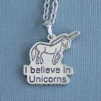 I believe in Unicorns Necklace by foowahu-etsy