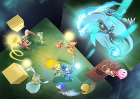 Super Smash Bros. 4 by a-barbosa