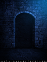 Medieval Gate ( blue version ) by Wesley-Souza