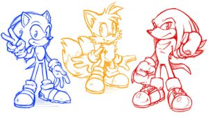 Weird Sonic Trio by CatbeeCache